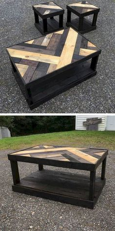Best Wooden Pallet Furniture Projects Ideas And Tutorials – Sensod – Create. wooden pallet table with small stool palpable Do It Yourself Custom-made Wood Pallet Furniture Suggestions · recycled pallet coffee table. Do It Yourself Wood Pallet Coffee Wooden Pallet Table, Wooden Pallet Furniture, Wooden Pallets, Wooden Diy, Furniture Ideas, Pallet Wood, Garden Furniture, Pallet Bench, Palette Furniture