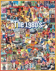 The Eighties Jigsaw Puzzle 1000 Piece | Nostalgia & Americana | Vermont Christmas Co. VT Holiday Gift Shop