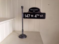 Old New York street sign post table number holders by Thestandshop, $10.00