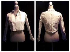 Blusa con pliegues en forma.