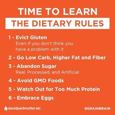 The six new rules of #nutrition.
