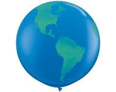 90cm GIANT WORLD BALLOON Round Jumbo World Globe by lightandco
