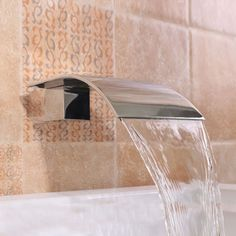 Square-Silver-Bathtub-Waterfall-Water-Spout-Vanity-Wall-Mixer-Tap-Spa-Faucet