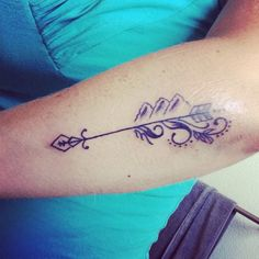 Follow your arrow wherever it points ... The mountains are calling and I must go. #arrow #tattoo #forearm