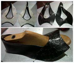Zapatos taco negros 1