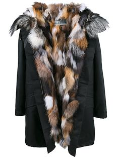 Shop Army Yves Salomon fox fur lined parka.