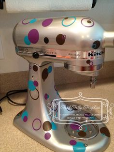 Kitchen Mixer vinyl decals