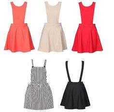 New Ladies Sexy Summer Spring pinafore skater casual celebrity style dress
