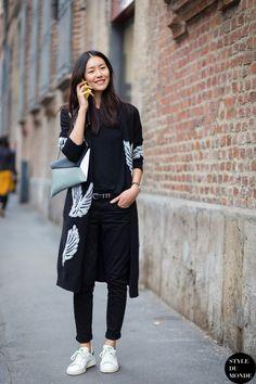 #LiuWen pretty embroidered cardigan. Milan