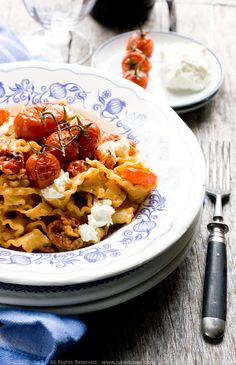 Mafalde with Roasted Tomatoes, Robiola & Crushed Fennel Seeds More