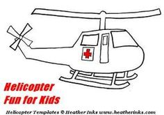 Helicopter Fun for Kids : Helicopter Crafts and Coloring Pages on www.heatherinks.com