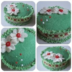 Gift for mum on Mother's Day (diy) .... #pincushion #fabric #sewing