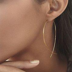 ES143 Fish Shaped Stud Earrings Simplicity Handmade Copper Wire Earring for Women Brincos de gota Feminino 2017 Geometric NEW  Price: 0.39 USD