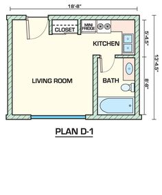 studio apartment floor plan | house plans i like | pinterest