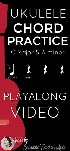 Chord Playalong Practice C and Am - Bernadette Teaches Music