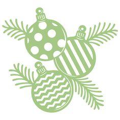 Silhouette Design Store - View Design #162685: ornaments and pine branches