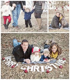 family Christmas photo session at the apple orchard!