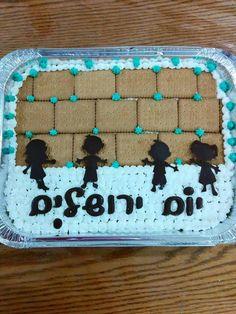 יום ירושלים Tisha B'av, Day Camp Activities, Israel Independence Day, Cute Kids Crafts, Hebrew School, Cake Shapes, Rosh Hashanah, 70th Birthday, Diy For Kids