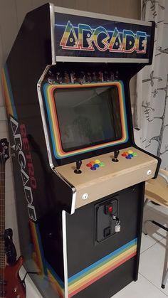 Arcade Bartop, Diy Arcade Cabinet, Borne Arcade, Arcade Machine, Gamer Room, Diy Cabinets, Clowns, Pinball, Ideas
