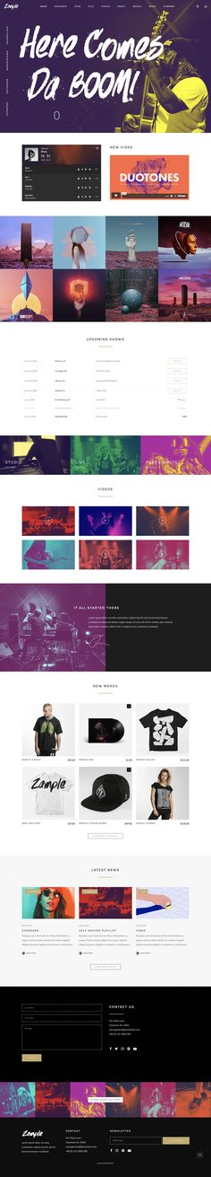 441 Best One Page Website Templates Images On Pinterest In 2019