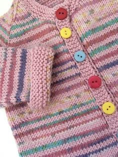 Add a little touch of color to your little one's life with this adorable cardigan shared on the LoveKnitting Find more inspiration and share your own projects at LoveKnitting. Blossom knitting project by Daisy Baby Cardigan Knitting Pattern Free, Kids Knitting Patterns, Knitted Baby Cardigan, Knitting For Kids, Baby Patterns, Knitting Yarn, Knitting Projects, Baby Sweater Patterns, Crochet Baby