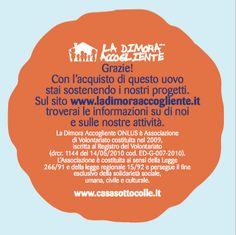 Cartellino Uova di Cioccolata - L'Associazione.