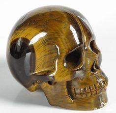 ☆ Gold Tiger Eye Crystal Skull ☆
