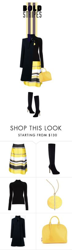 """""""bold stripes"""" by paperdollsq ❤ liked on Polyvore featuring Blugirl, Nine West, Misha Nonoo, Gurhan, Chloé, Louis Vuitton and BoldStripes"""