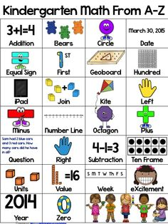 $ This adorable poster is just what you need to get your Kinders familiar with important math vocabulary aligned to the CCSS standards. Available in color and black and white for your printing needs.