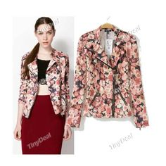 Presell Casual Floral Printing Coats Fashion Retro Style Suit for Women DCD-291666