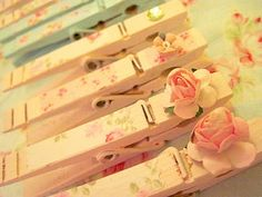 Beautifully shabby altered clothes pins