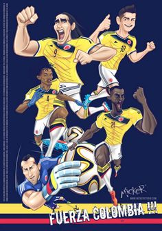 seleccion colombia.. James Rodriguez, Football Art, World Football, World Cup Russia 2018, World Cup 2018, Lionel Messi, Colombia Soccer, Colombian Art, Ronaldo Real Madrid