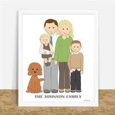 Custom Portrait Personalized Family Portrait door MartinelaToons