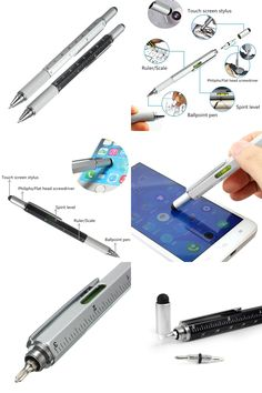 [Visit to Buy] Multi Function Screwdriver Ruler Spirit Level Tool Ballpoint Pen With A Top And Scale Stylus For Touch Screen Tool Pen #Advertisement