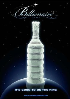 The Billionaire Vodka by Leon Verres: $4,000,000.00.