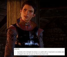 Dragon Age: Inquisition + text posts, part 8 Someone take my laptop away, I can't stop making these. More DA text post memes: Dragon Age Memes, Dragon Age Funny, Dragon Age Inquisition, Dinosaur Age, Crocodiles, Mass Effect, Best Games, Cute Couples, My Girl
