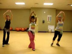 Belly Dance Zumba to Shakira's Ojos Asi. Routine doesn't look too hard, might be funny to do this just for kicks one day