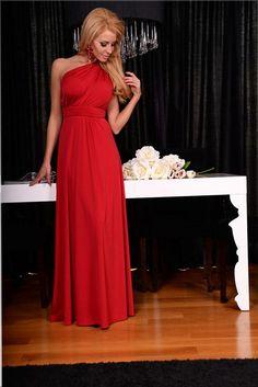 Елегантна дълга рокля в червено | Онлайн маркови дамски дрехи, мъжки дрехи и дамски обувки. Online магазин за маркови рокли, блузи, ризи.