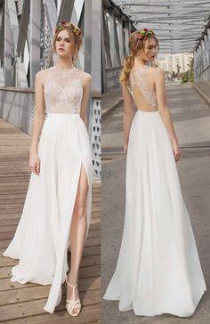 side split prom dresses, lace prom dresses,lace top prom dress