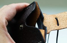 Genuin Leather ID Card Holder / Transportation Card by DubuDumo