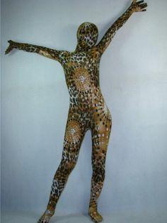 Lycra Full Body Leopard Animal Zentai