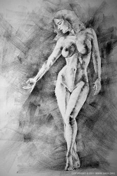 SketchBook Page 13 Figure Drawing Female Image charcoal Body Sketch Human Body upright standing sketch sensual provocative outline nude naked model pose Body Sketches, Drawing Sketches, Pencil Drawings, Art Drawings, Figure Drawing Female, Female Art, Figure Drawing Reference, Figure Sketching, Life Drawing