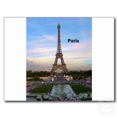 France Paris Eiffel Tower (by St.K) Post Cards $1.10