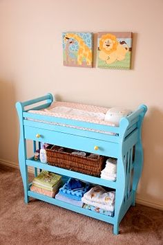 I Didnt have a changing table for Bre..but I def want one for Bella
