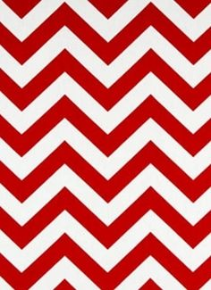 "OD Chevron Red.  Chevron fabric for outdoor pillows, seat cushions, upholstery or drapery panels. 100% poly treated to resist mildew and fading for up to 500 direct sunlight hours. Made in U.S.A. 54"" wide."