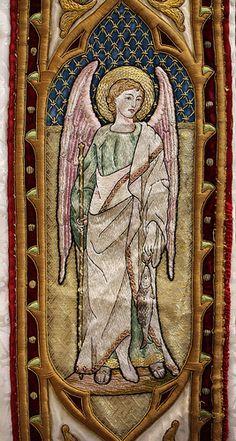 Embroidered archangel Raphael