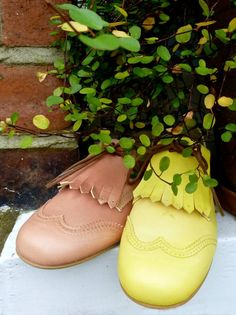 Manuela de Juan vibrant yellow leather shoes for kids fashion summer 2014