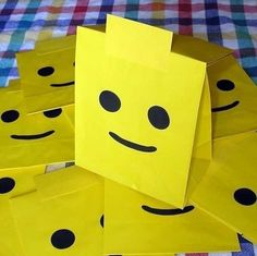 Great lego party treat bag idea or invitations