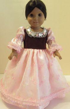 Blush organza gown for American Girl Doll. $22.00, via Etsy.
