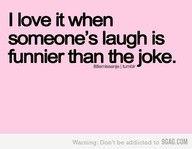 When a laugh is funnier than the joke.